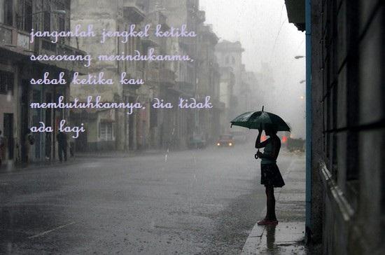 Hujan payung sendu kesepian sendiri
